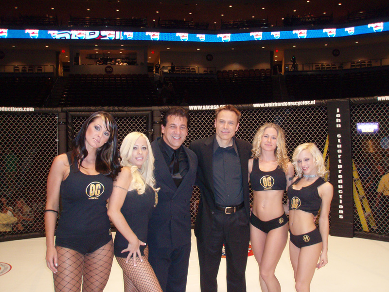 Chuck Zito and Vegas Ring Girls